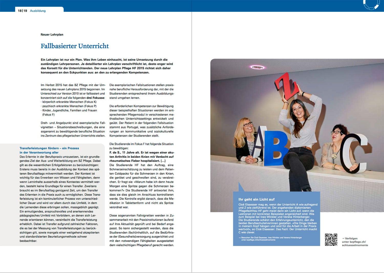 Jahresbericht Berner Bildungszentrum Pflege