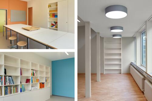 Schulhaus Bärlet Brügg. Auftragsarbeit Leimer Tschanz Architekten